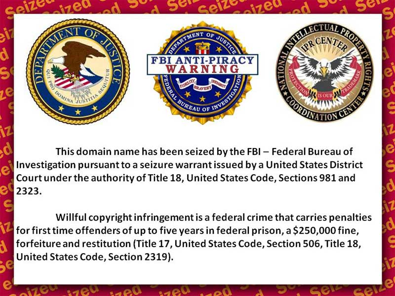 Federal Bureau of Investigation (FBI) Anti-Piracy Warning