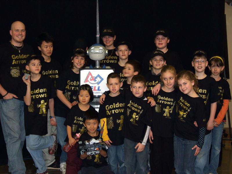 Golden Arrows FIRST Lego League Team at the Tournament
